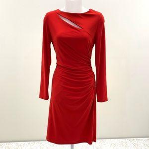 NWT Joseph Ribkoff Cut-Out Long Sleeve Dress